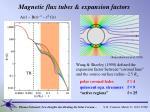 magnetic flux tubes expansion factors