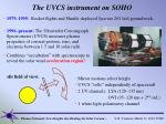 the uvcs instrument on soho