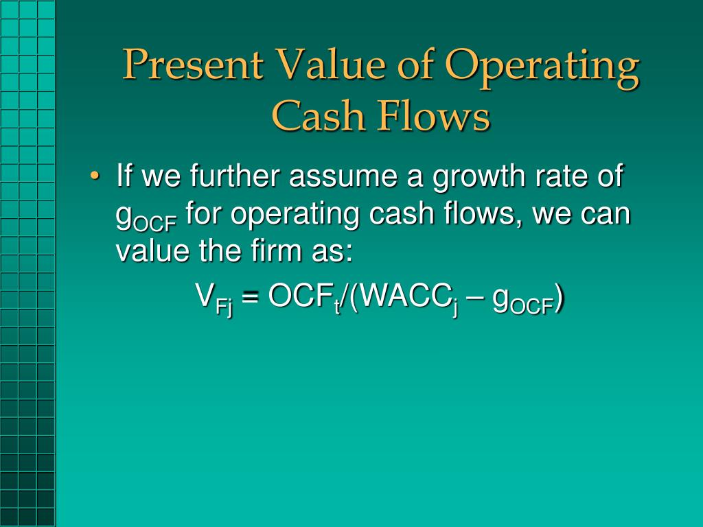 Present Value of Operating Cash Flows