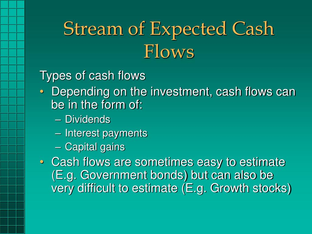 Stream of Expected Cash Flows