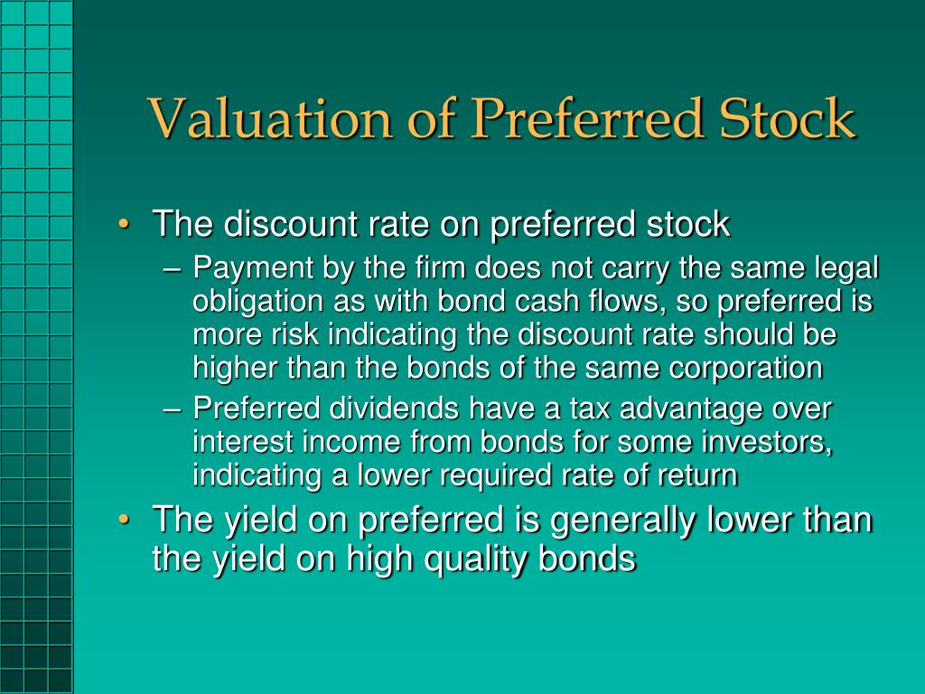 Valuation of Preferred Stock