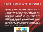 making tickets for la nouba affordable