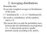 2 averaging distributions
