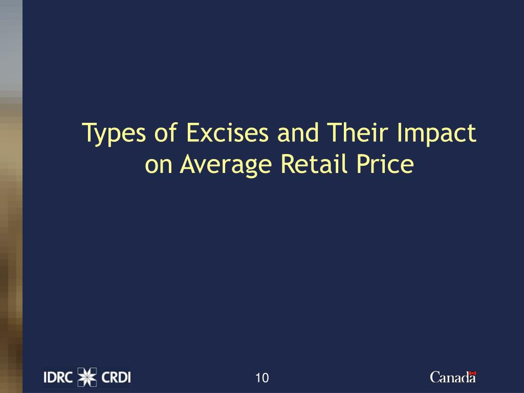 Types of Excises and Their Impact on Average Retail Price