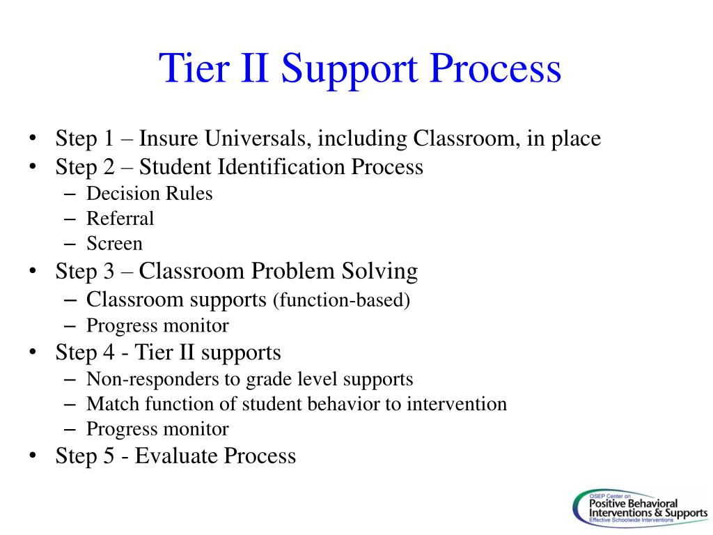 Tier II Support Process