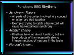 functions eeg rhythms