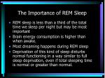 the importance of rem sleep