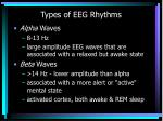 types of eeg rhythms