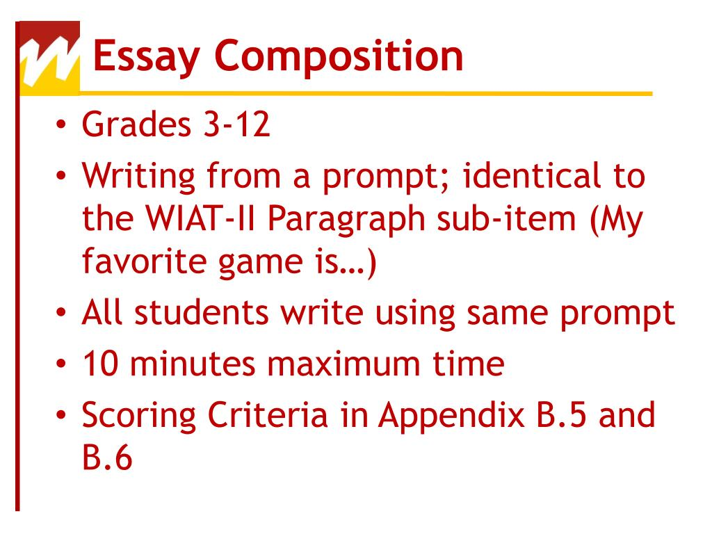 wiat iii essay composition description