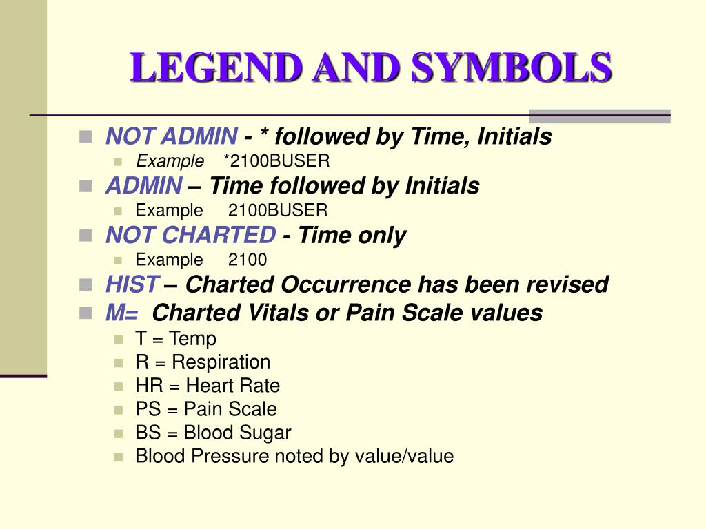 LEGEND AND SYMBOLS