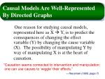 causal models are well represented by directed graphs