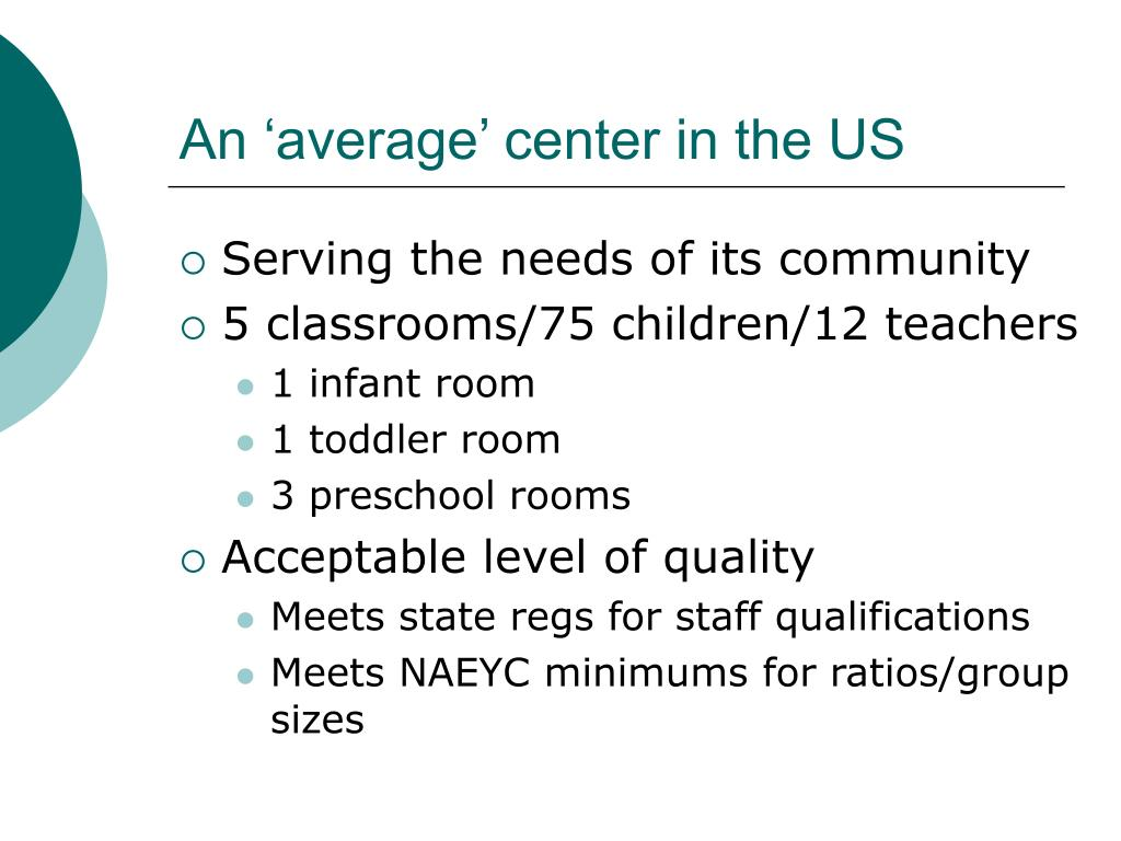 An 'average' center in the US