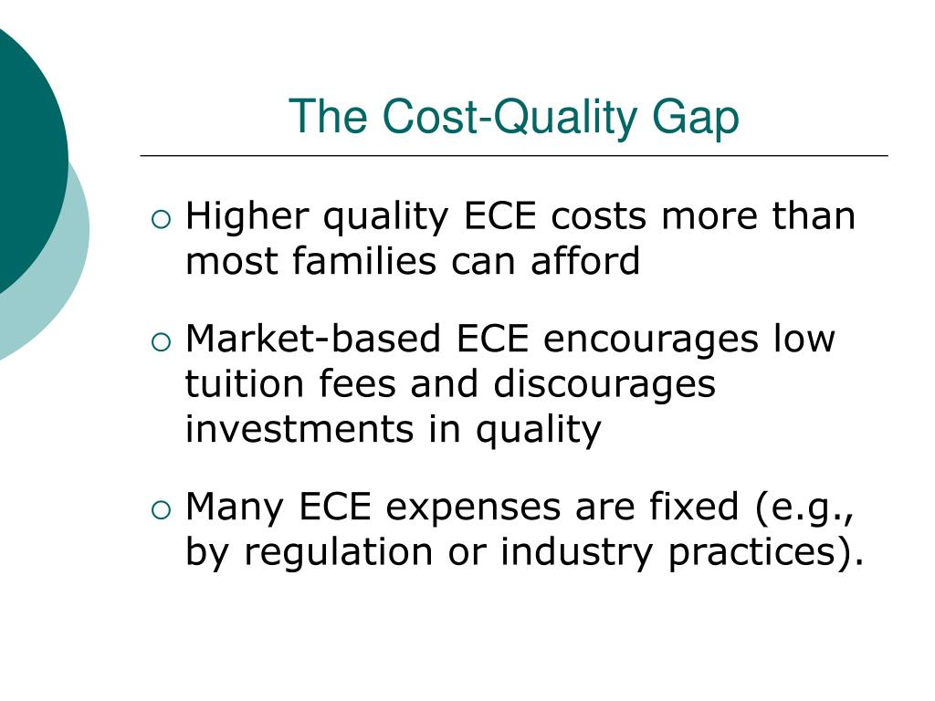 The Cost-Quality Gap