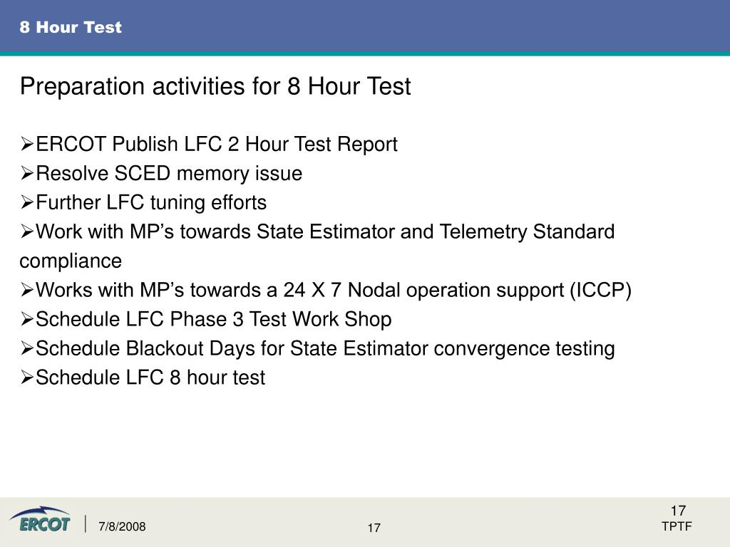 8 Hour Test