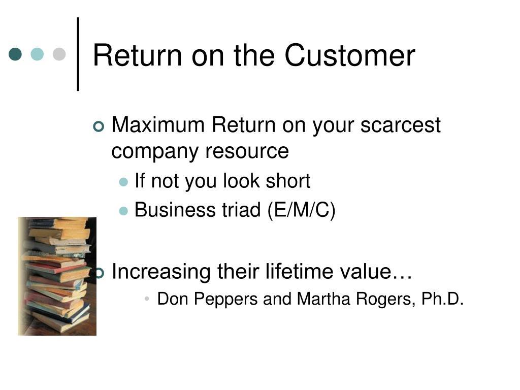 Return on the Customer