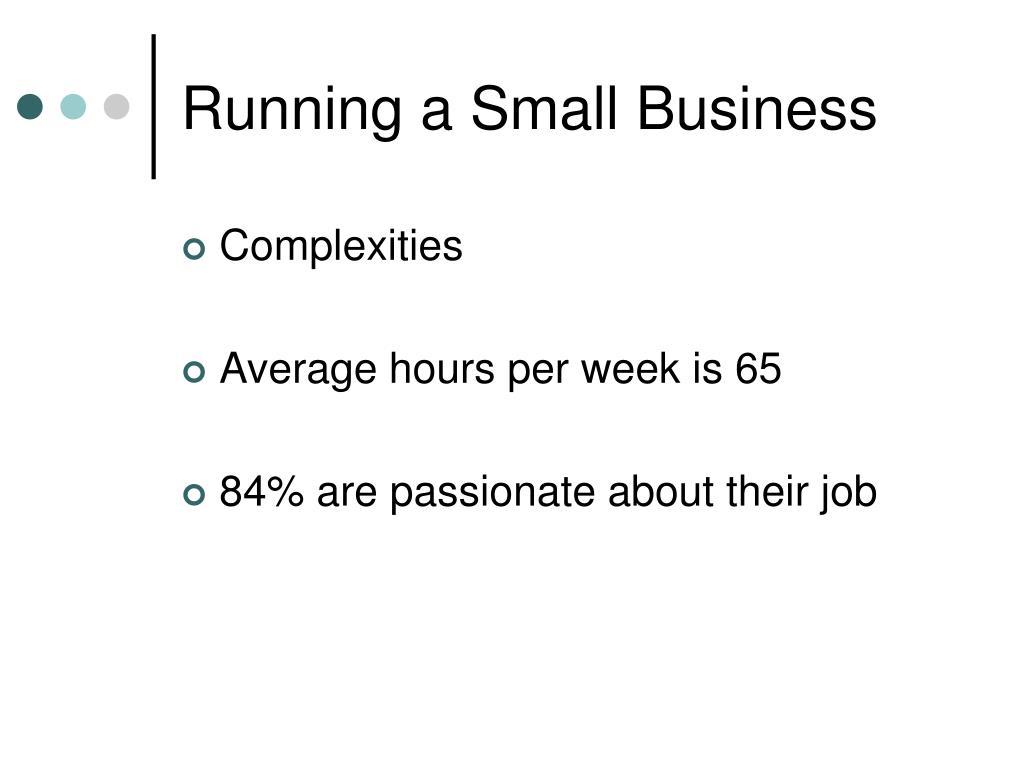 Running a Small Business