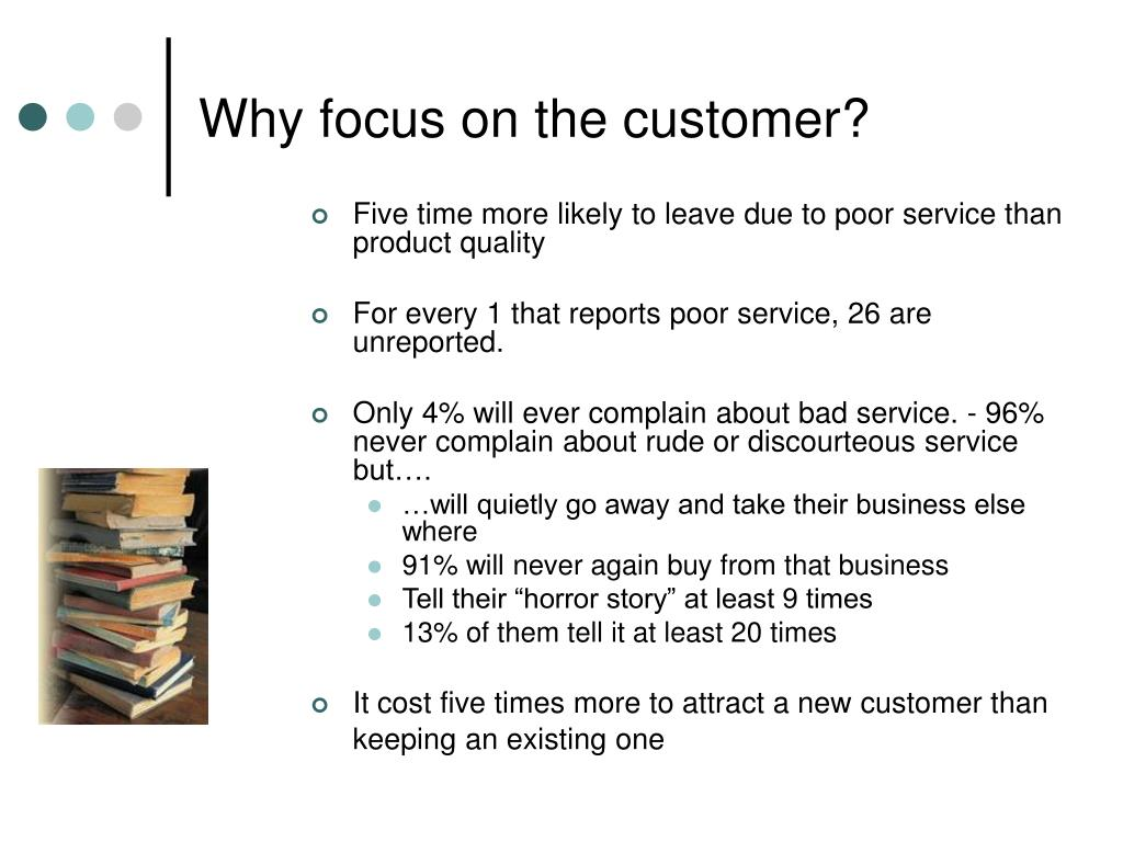 Why focus on the customer?