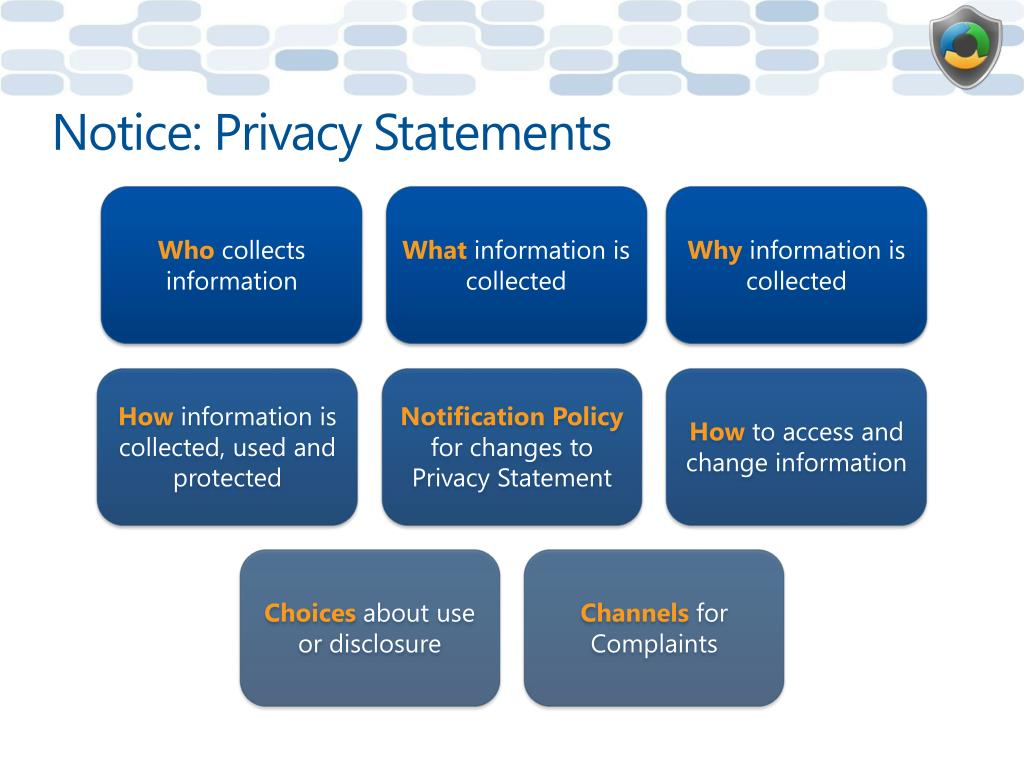Notice: Privacy Statements