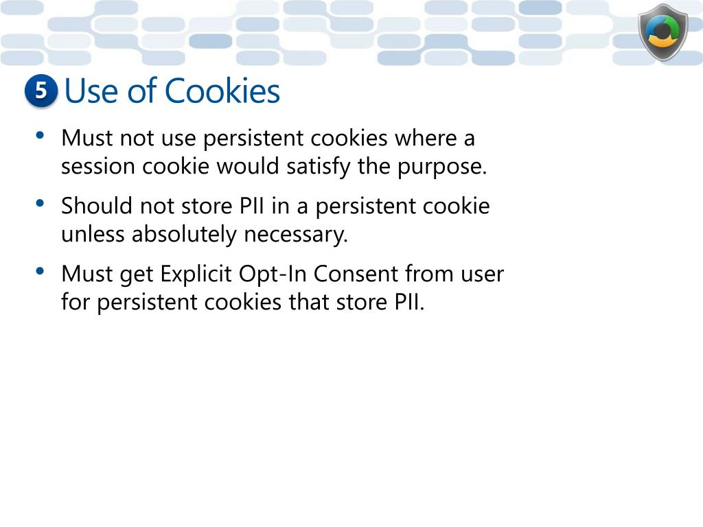 Use of Cookies