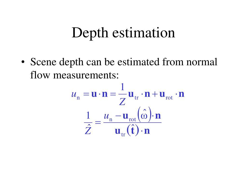 Depth estimation