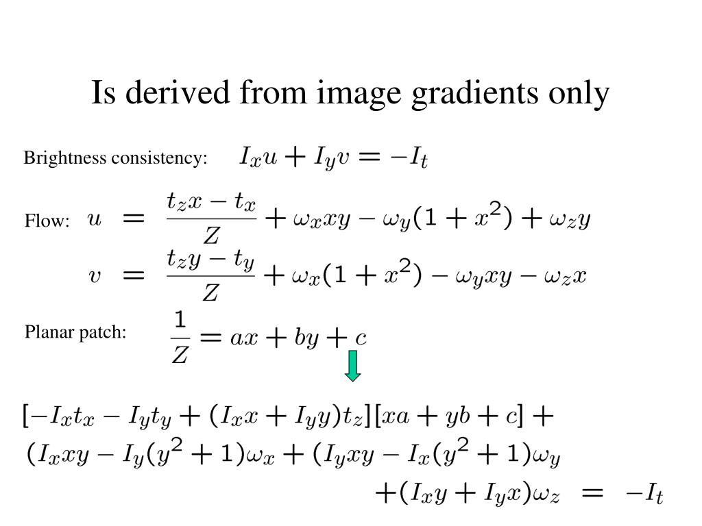 Is derived from image gradients only