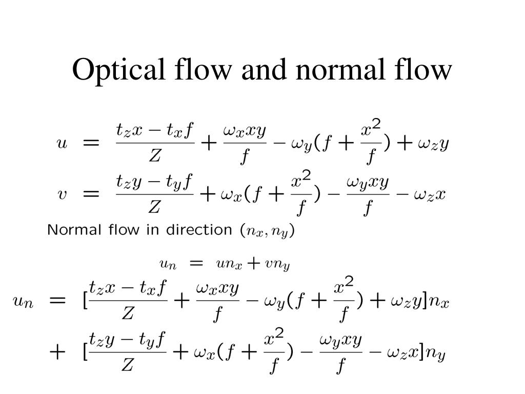 Optical flow and normal flow