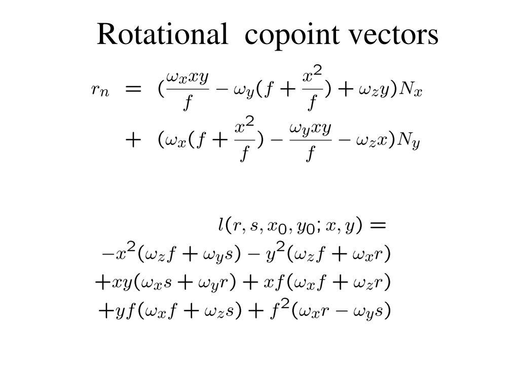 Rotational  copoint vectors
