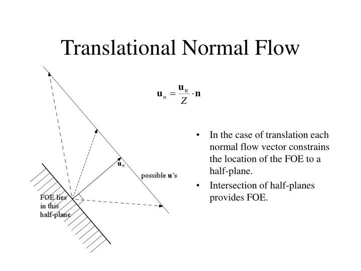 Translational normal flow