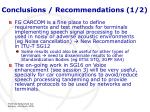 conclusions recommendations 1 2
