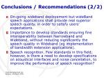 conclusions recommendations 2 2