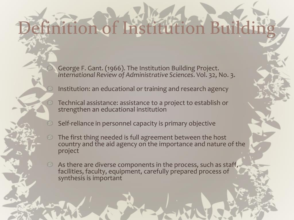 Definition of Institution Building