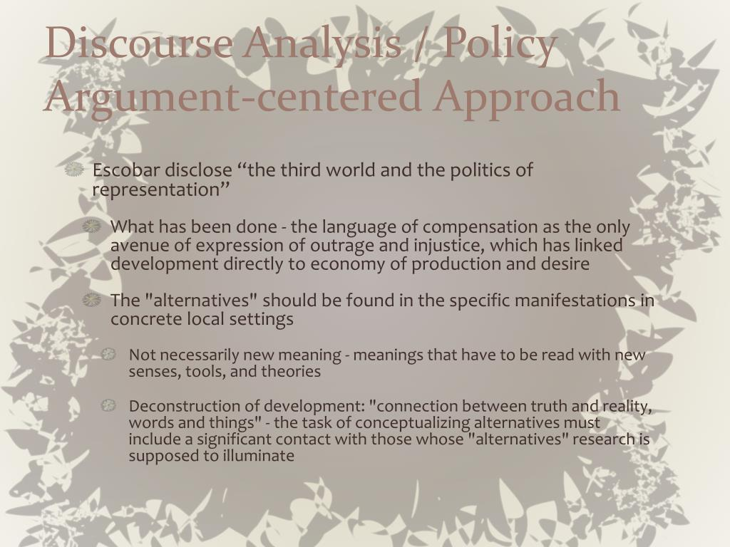 Discourse Analysis / Policy Argument-centered Approach