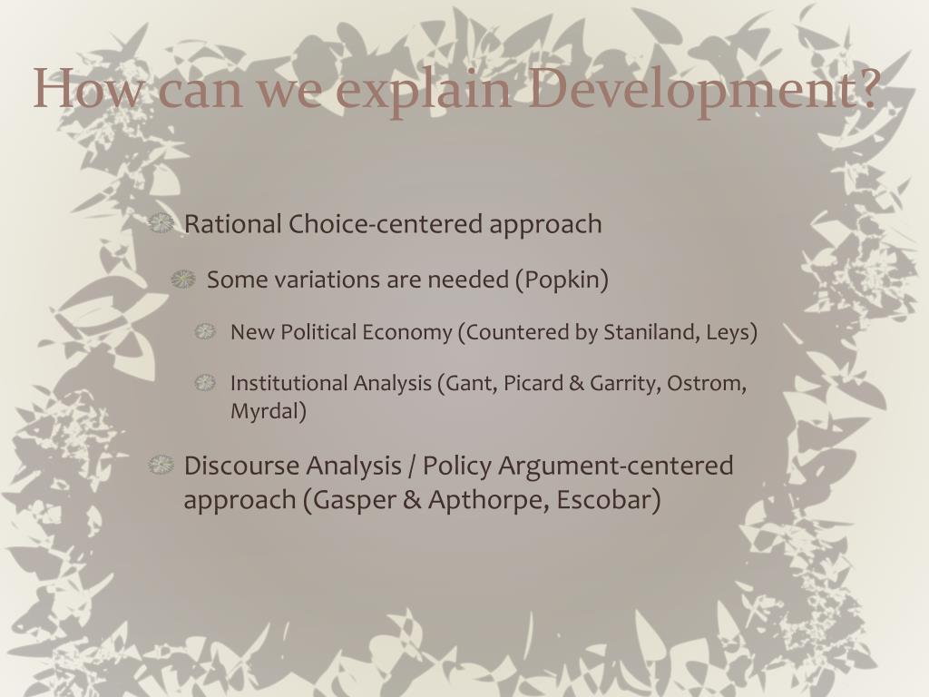 How can we explain Development?