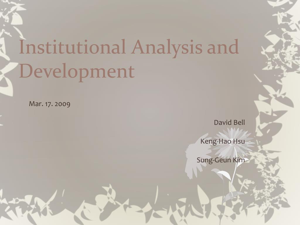 Institutional Analysis and Development
