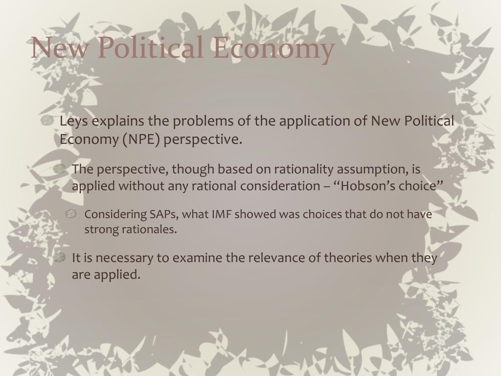 New Political Economy