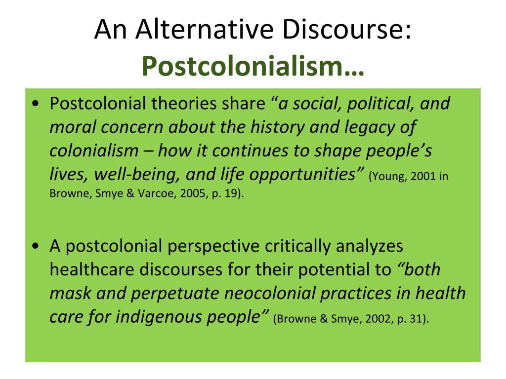 An Alternative Discourse: