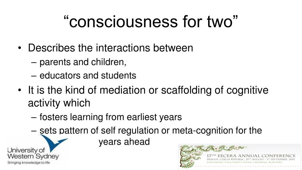 """""""consciousness for two"""""""