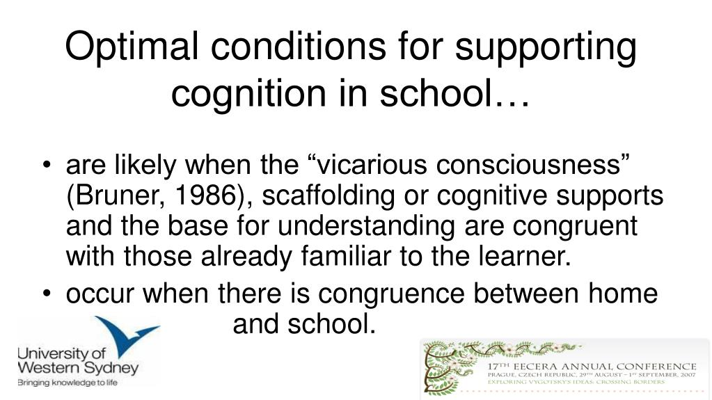 Optimal conditions for supporting cognition in school…