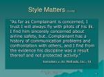style matters cont d58