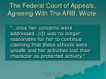 the federal court of appeals agreeing with the arb wrote