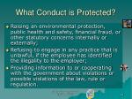 what conduct is protected