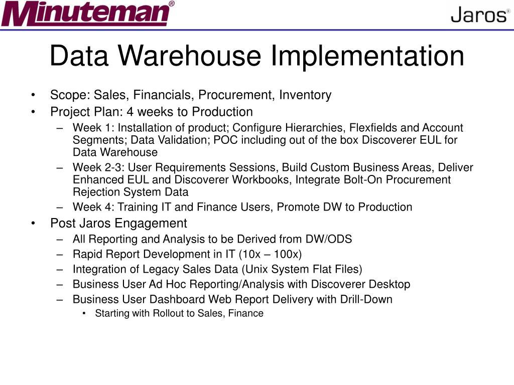 Data Warehouse Implementation