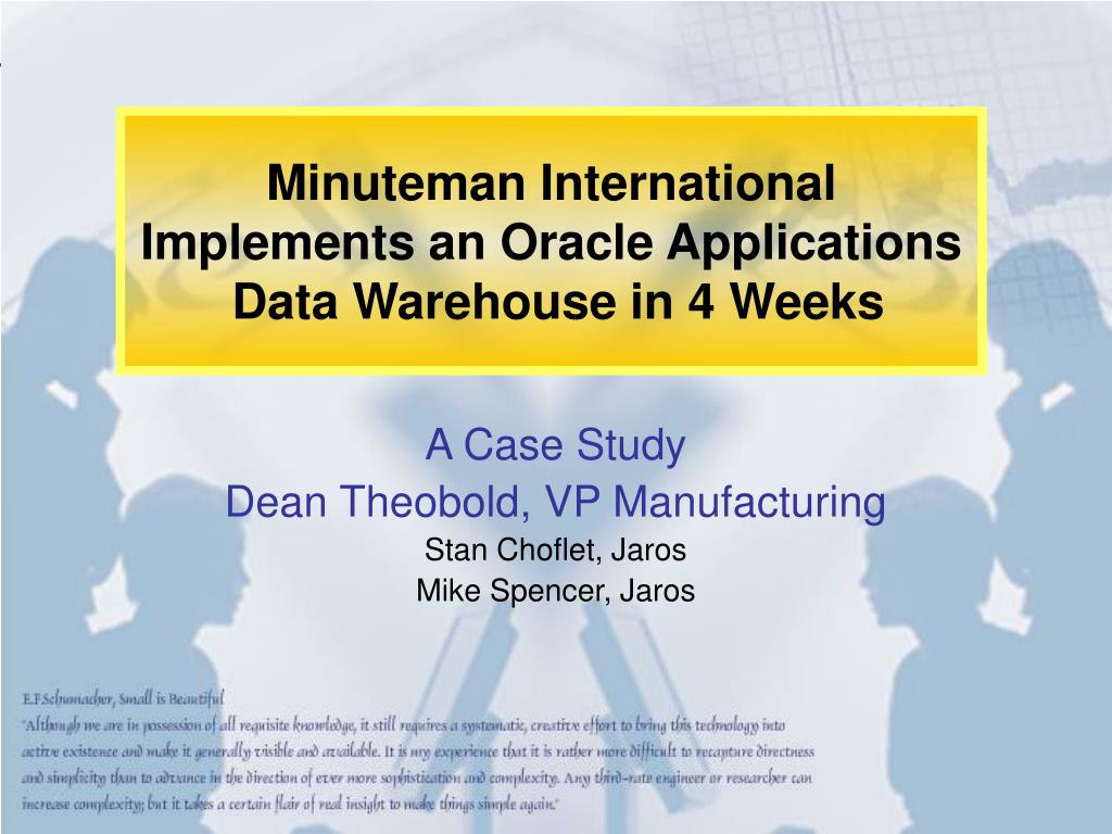 Minuteman International Implements an Oracle Applications
