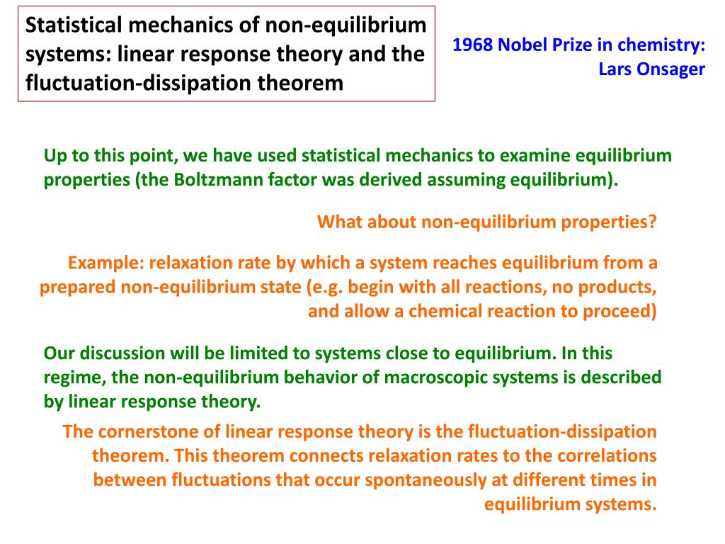 Statistical mechanics of non-equilibrium systems: linear response theory and the fluctuation-dissipation theorem