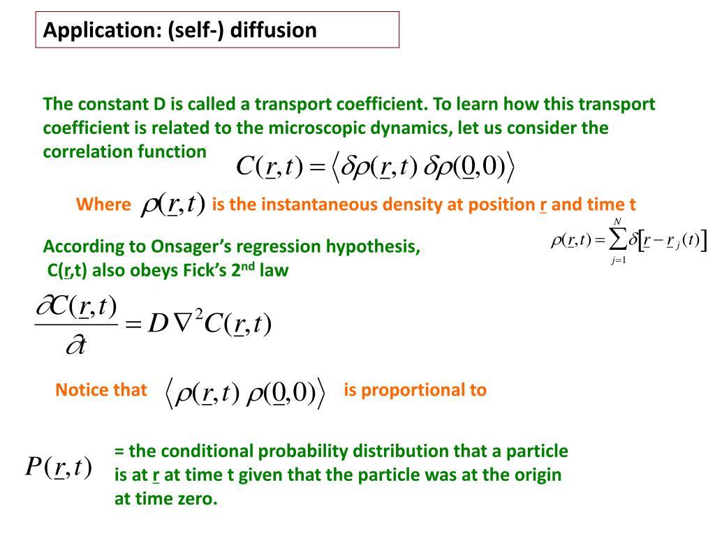 Application: (self-) diffusion