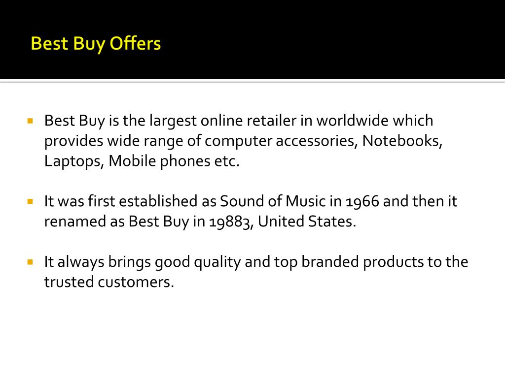 Best Buy Offers