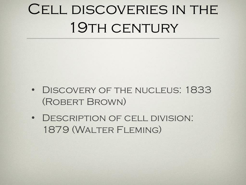 Cell discoveries in the 19th century