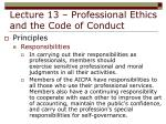 lecture 13 professional ethics and the code of conduct11