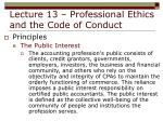 lecture 13 professional ethics and the code of conduct12