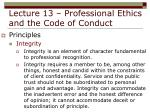 lecture 13 professional ethics and the code of conduct14
